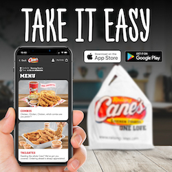 Raising Canes Takeout 250